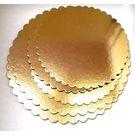 Подложка картон усиленная D280мм 3,5мм золото-черный